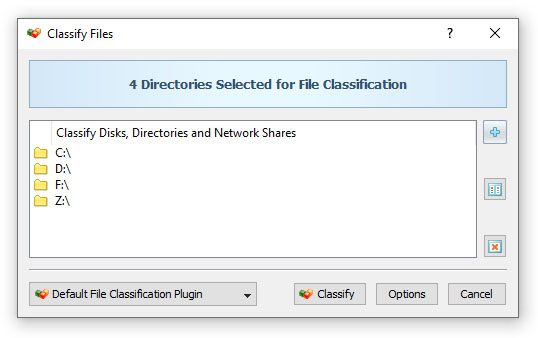 File Classification Operation Dialog
