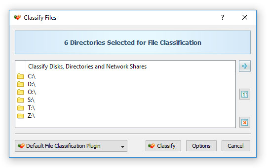 File Classification Input Directories