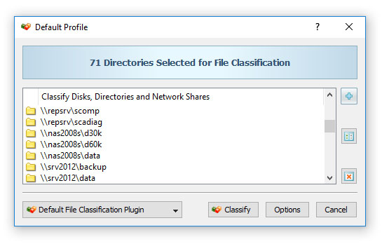 Classifying Files in Network Shares