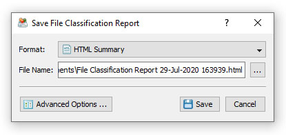DiskSorter Save File Classification Report